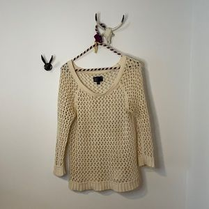 Sexy vintage ramie fishnet American Eagle sweater